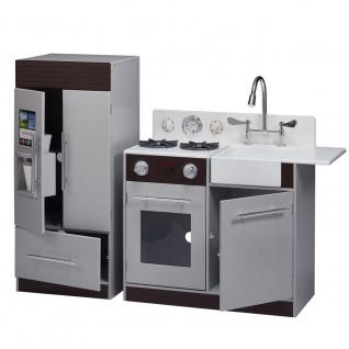 Spielküche modern, espresso grey