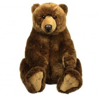Plüschtier WWF Grizzly Bär, braun, sitzend