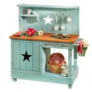 Matschküche Stern petrol-braun - Kinderküche für draußen