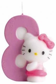 Kuchenkerze Hello Kitty Zahl 8 - Vorschau