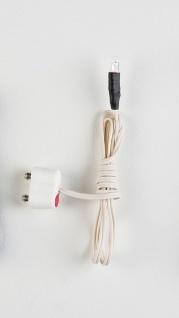LED weiß, 3 mm, mit Kabel und Stecker