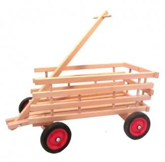 Kinder-Leiterwagen Max aus naturbelassenem Holz