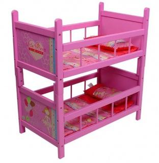 Puppenetagenbett Stocky My Little Princess pink