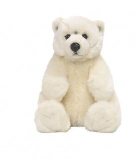 Plüschtier WWF Eisbär sitzend, Grösse 22cm