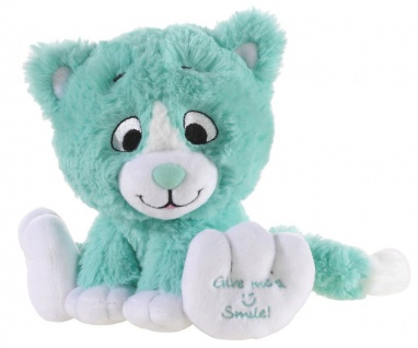 Plüschtier Katze Kitty Smile Farbe türkis