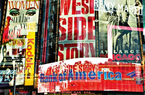 XXL Poster Kunst Modern, New York Times Square