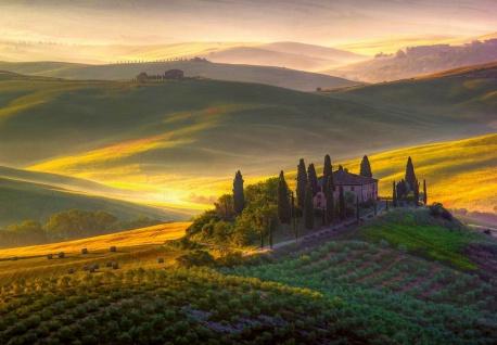 Vlies Fototapete Toskana, Dorf Italien