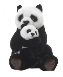 Plüschtier WWF Panda mit Baby, Grösse 28cm