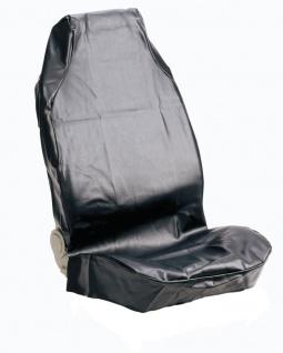 Sitzschoner Kunstleder, schwarz