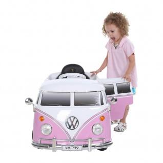 Kinderfahrzeug VW BUS T2 , 6V, RC, mit Fernbedienung, pink
