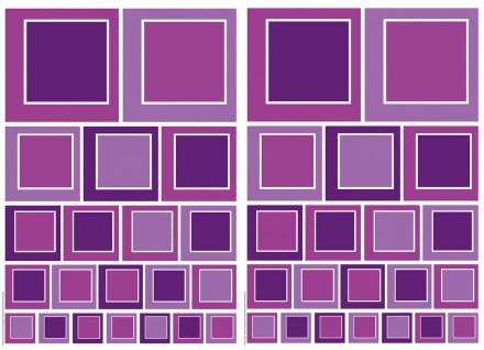 Wandtattoo Abstrakt, Vierecke Violet, selbstklebend