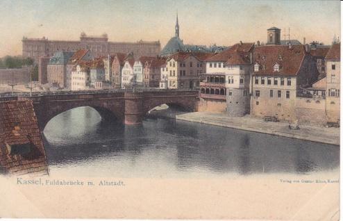 Ansichtskarte Kassel Fuldabrücke, ein altes Original, PLZ 34277