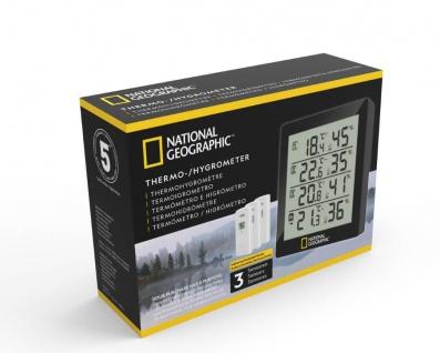 NATIONAL GEOGRAPHIC Thermo-Hygrometer 4 Messbereiche schwarz