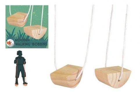 Wooden Walking Bobbins - Geschicklichkeitsspiel, Outdoorspielzeug