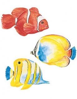 Wandaufkleber Wallies Motiv-Sticker (Cutouts) Tropical Fish