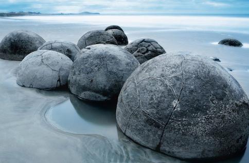 XXL Poster Steine am Strand vor Meer