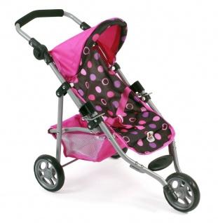Jogging-Buggy LOLA für Puppen Dessin Pinky Balls