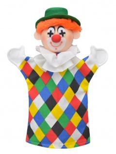Handpuppe Clown Logo, 28cm