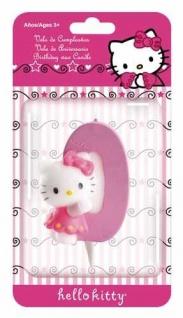 Kuchenkerze Hello Kitty Zahl 0