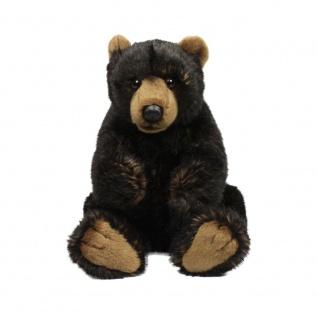 Plüschtier WWF Grizzly Bär, schwarz, sitzend,