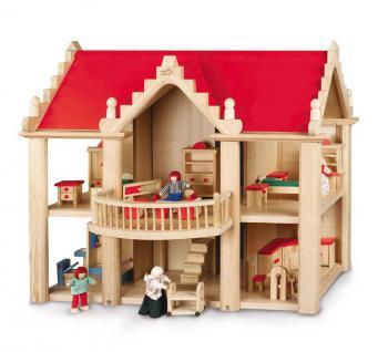 Puppenhaus Villa kompl. mit Spielfiguren