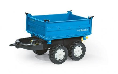 rollyMega Trailer - Dreiseitenkipper, in blau