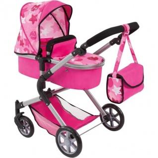 Kombi-Puppenwagen City Neo, pink Sterne