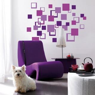 Wandtattoo Abstrakt, Vierecke Violet, selbstklebend - Vorschau 2