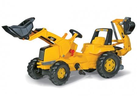 Trettraktor rollyJunior CAT mit Lader und Heckbagger