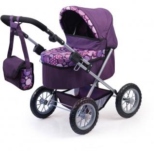 Puppenwagen Trendy Farbe lila mit Kreisen