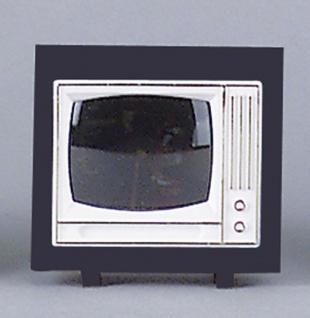 Fernseher mit schwarzem Rahmen, für Puppenhaus