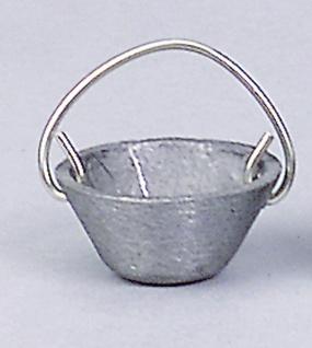 Kessel Zinn, für Krippen, Hobby- und Modellbau, 12 mm, ohne Kette
