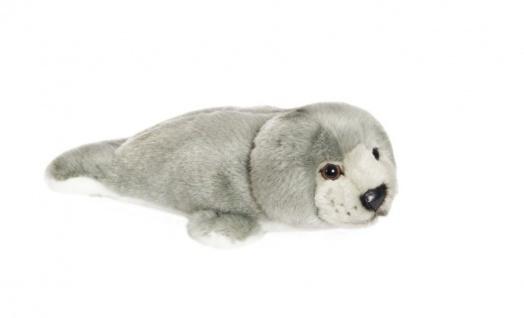 Plüschtier WWF Robbe, Grösse 24 cm grau