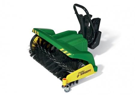 rollySweepy - Kehrmaschine für Trettraktoren grün