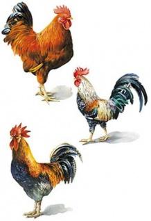 Wandaufkleber Wallies Motiv-Sticker (Cutouts) Painted Roosters