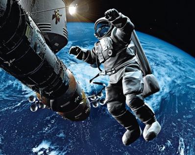 Vlies Fototapete Weltraum, mit Astronaut