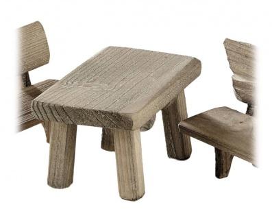 Tisch, Holzminiatur, für Krippen und Modellbau