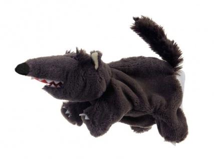 Handpuppe Wolf schwarz, 30cm (mit Schwanz)