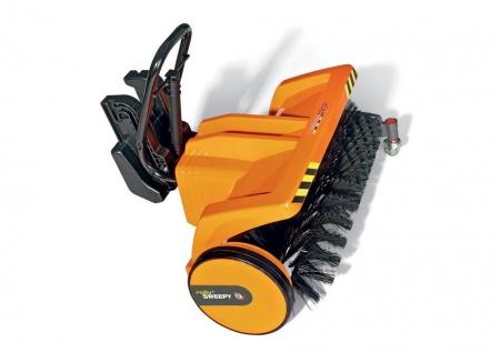 rollySweepy - Kehrmaschine für Trettraktoren orange