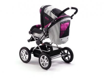 Kinderwagen Kombi VIVA im Design fuchsia