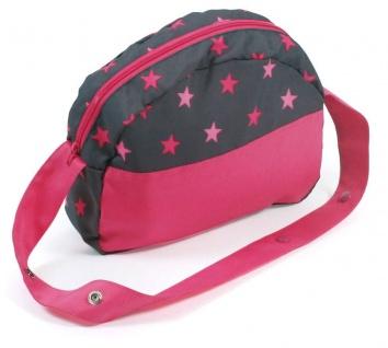 Wickeltasche für Puppen, Sternchen pink