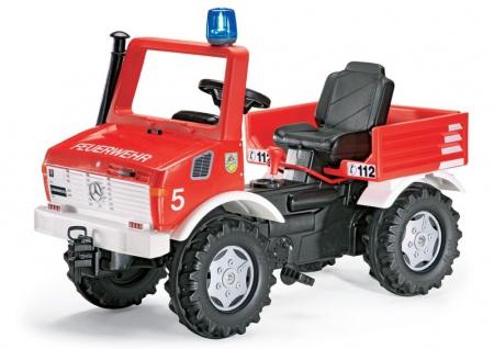 Tretfahrzeug rollyFire Unimog mit Schaltung und Bremse von rolly toys