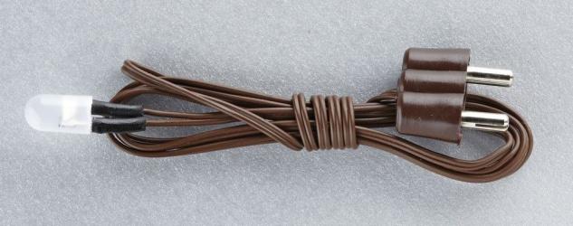 Flacker-LED mit Kabel und Stecker