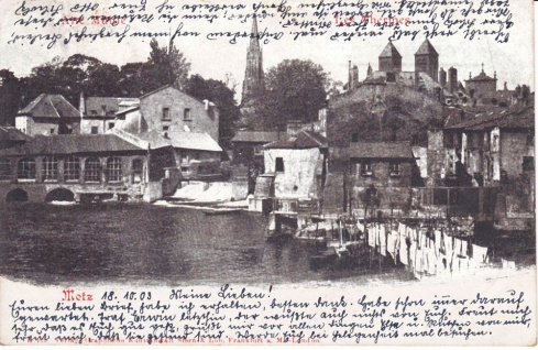 Ansichtskarte Metz Alte Mühle, ein altes Original