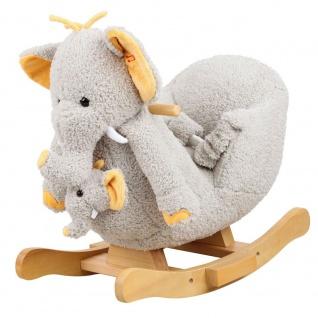 Schaukeltier Elefant Nele mit Sound inkl. Handpuppe