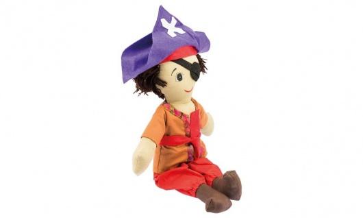 Stoffpuppe Kuschelfreund Pirat, groß