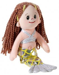 Puppe Poupetta Kleine Meerjungfrau, braun, Grösse 23 cm