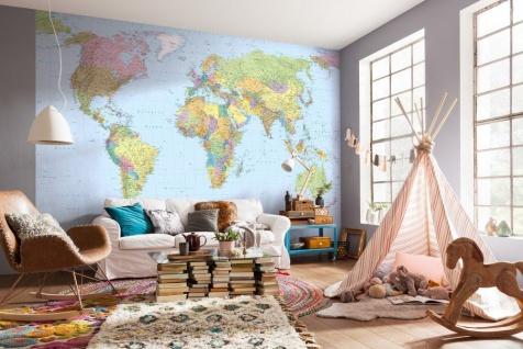 Vlies Fototapete World Map