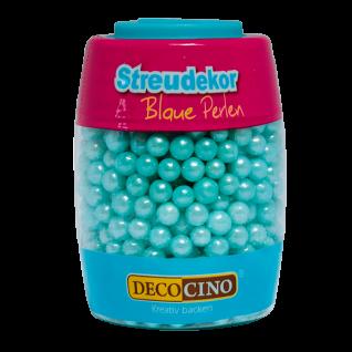 Streudekor Perlen blau, 65 g