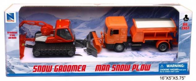 Winterspielset mit 2 Fahrzeugen